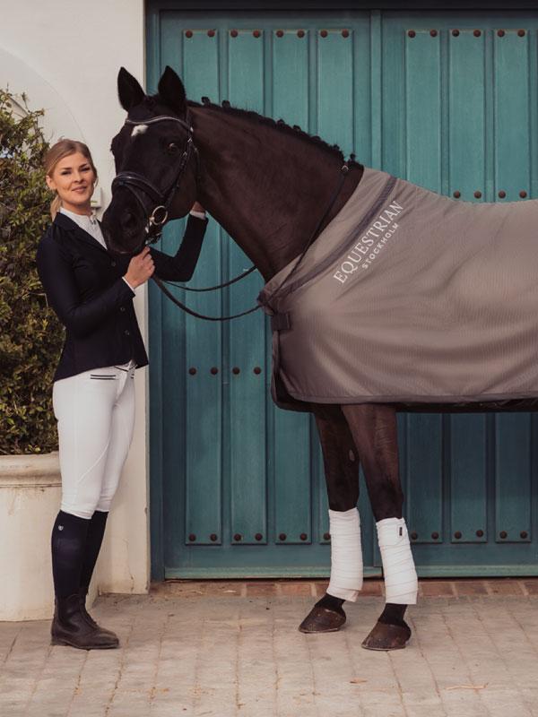 Cooler net rug grey   Equestrian Stockholm